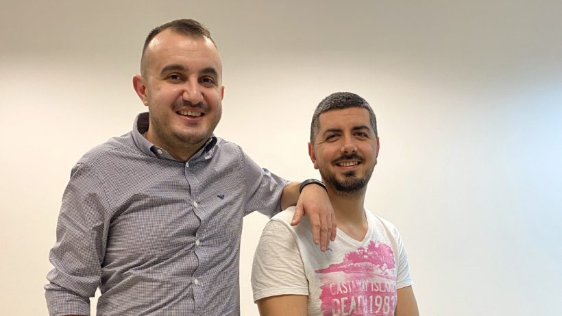 SMSBump founders Mihail Stoychev and Georgi Petrov