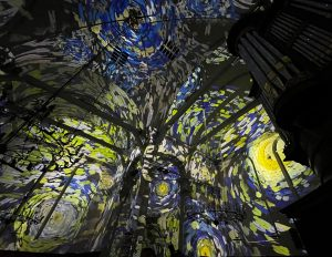 Vincent meets Rembrandt, projection mapping of the Starry Night