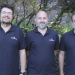 The three co-founders of the e-learning marktplace, LearnWorlds - George Palaigeorgiou, Fanis Despotakis, and Panos Siozos
