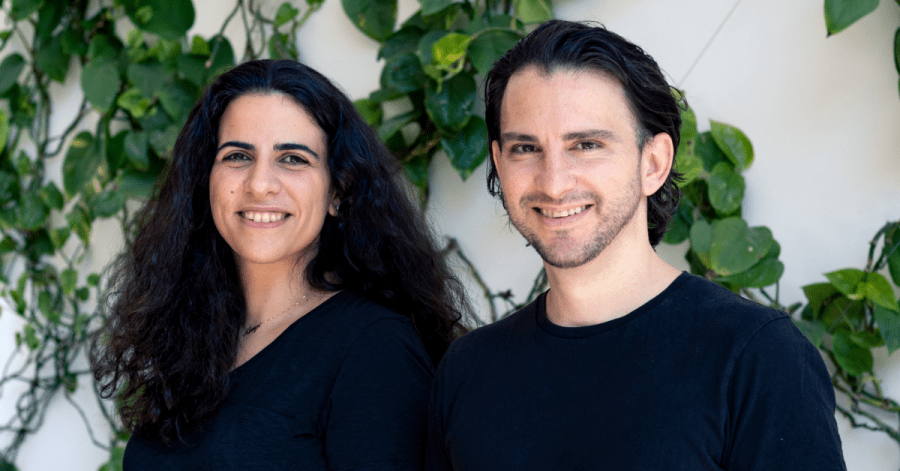 Avrio, the co-founders Natalie Masrujeh , Head of Product (left), and Andrew Michael, CEO (right), data analytics