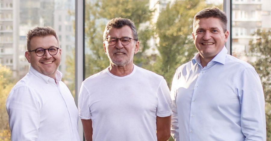 The founders of the OTB Ventures Growth Fund - Adam Niewinski, Marcin Hejka, and Grzegorz Jankilewicz