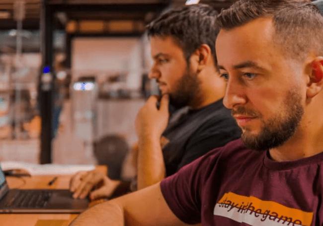 Ivan Iliev and team working, app development agency