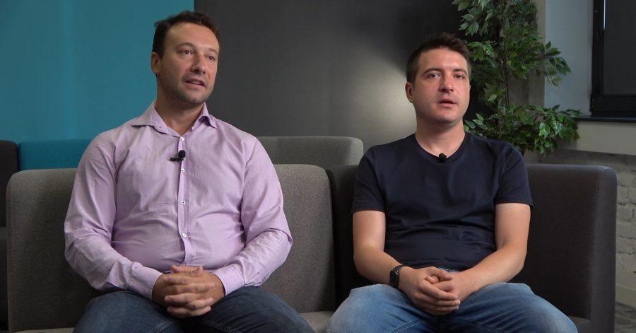 Simeon Predov and Lyubomir Vanyov, founders of Shkolo.bg