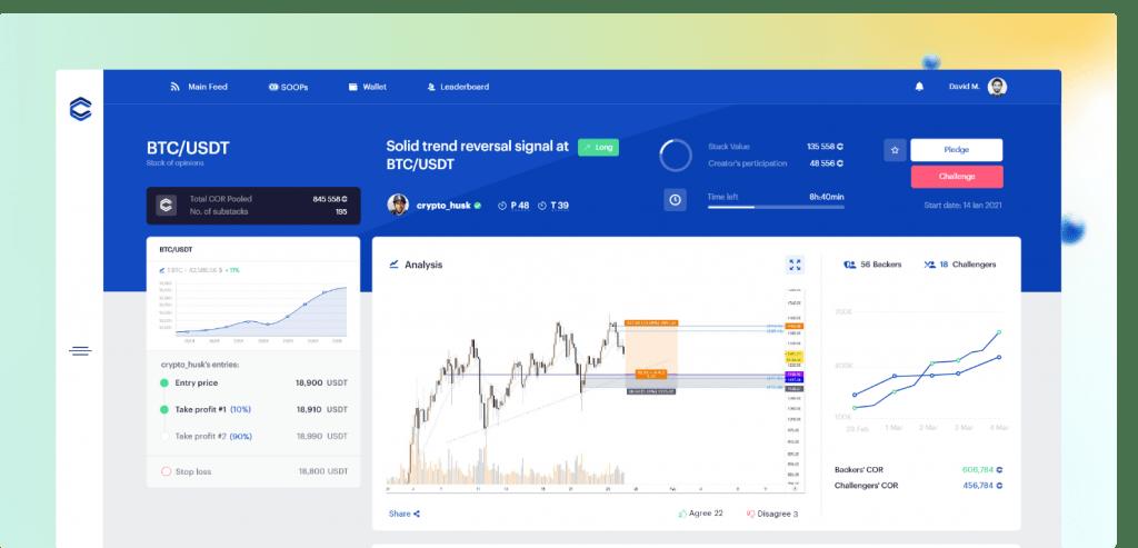 Coreto platform, company website