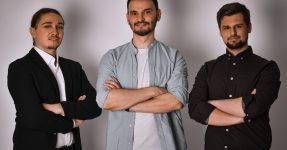 Vatis Tech co-founders, Alexandru Topala, Adrian Ispas, and Emanuel-Ioan Nazare