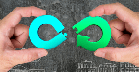Circular economy concept, Canva